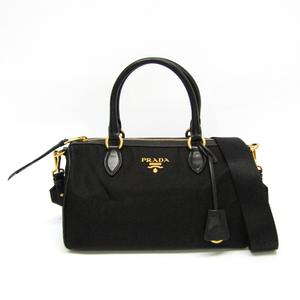 Prada 1BB797 Women's Tessuto,Leather Handbag,Shoulder Bag Nero