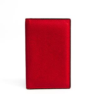 Valextra V2L03 Leather Card Case Red Color