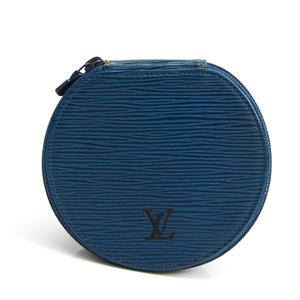Louis Vuitton Epi Ecran Bijou 12 M48205 Jewelry Case Toledo Blue Epi Leather