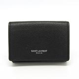 サン・ローラン(Saint Laurent) タイニー ウォレット 459784 ユニセックス レザー 財布(三つ折り) ブラック