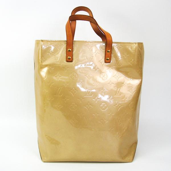 Louis Vuitton Monogram Vernis Lead MM M91141 Women's Handbag Soft Beige