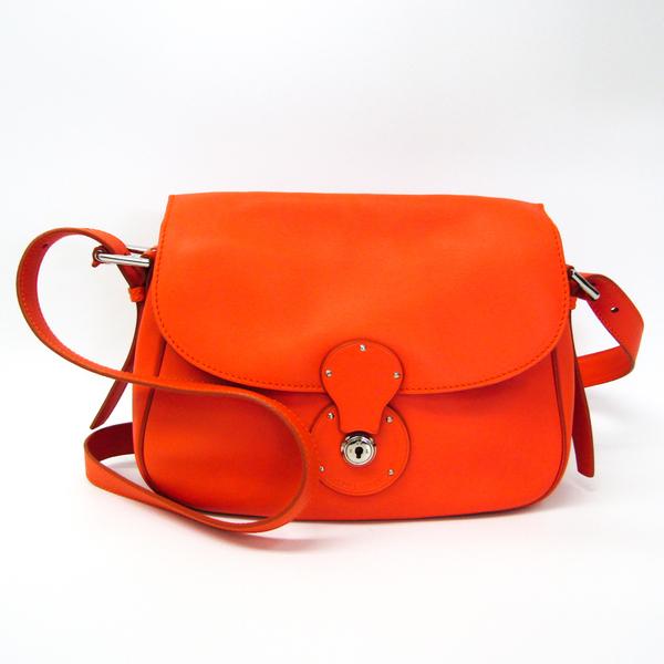 Ralph Lauren Women's Leather Shoulder Bag Orange