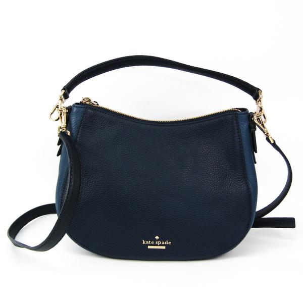 Kate Spade Jackson Street Small Mylie PXRU7838 Women's Leather Shoulder Bag,Tote Bag Navy
