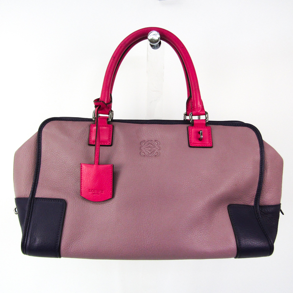 Loewe Amazona 32 Women's Leather Handbag Light Purple,Pink,Purple