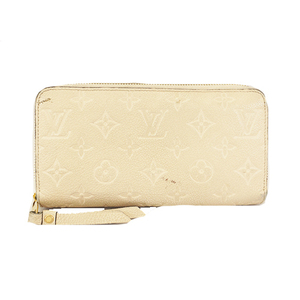 Auth Louis Vuitton Monogram Empreinte Zippy Wallet M61866 Women's  Long Wallet (bi-fold) Dune