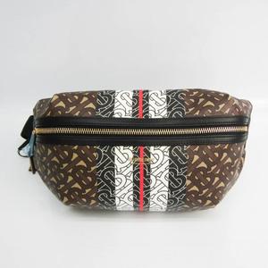 Burberry Medium Monogram Stripe E-canvas Bum Bag 8017212 Unisex Leather,Coated Canvas Fanny Pack,Sling Bag Black,Dark Brown,Multi-color,White