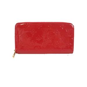 Auth Louis Vuitton Monogram Vernis Zippy Wallet M61379 Women's Monogram Vernis Long Wallet (bi-fold) Magenta