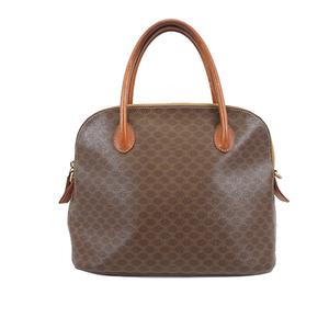 Auth Celine Macadam 2way Bag Women's PVC Handbag,Shoulder Bag Brown