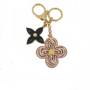 Auth Louis Vuitton Keychain Bijoux Sack Knife Pink Beige M66143 Keyring