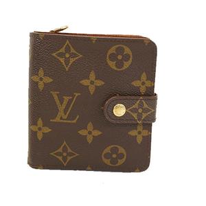 Auth Louis Vuitton Monogram Compact Zip M61667 Women's  Wallet (bi-fold)