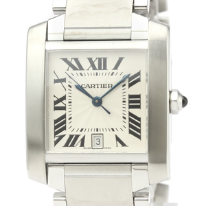 Cartier Tank Francaise Automatic Stainless Steel Men's Dress Watch W51002Q3