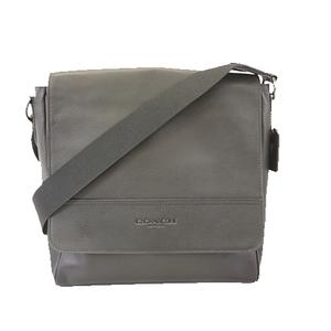 Auth Coach Shoulder Bag F68015 Men's Leather Shoulder Bag Black
