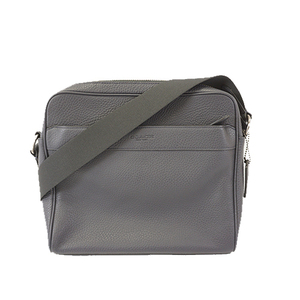 Auth Coach Shoulder Bag F24876 Men's Leather Shoulder Bag Navy
