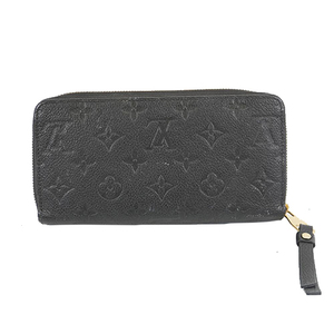 Auth Louis Vuitton Monogram Empreinte Zippy wallet M61864 Women's  Long Wallet (bi-fold) Noir