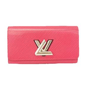 Auth Louis Vuitton Epi Portofeuil Twist Compact M62362 Women's Epi Leather Long Wallet (bi-fold) Hot Pink