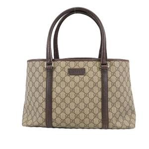 Auth Gucci Tote bag 114595 Women's GG Supreme Tote Bag Beige