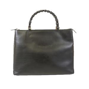 Auth Gucci Bamboo Handbag 002 2122 0507 Women's Leather Handbag Black