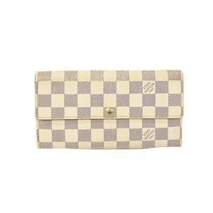 ルイヴィトン 二つ折り長財布 ダミエアズール ポルトフォイユサラ N61735