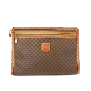 Auth Celine Macadam   Clutch Bag Men,Women,Unisex PVC Clutch Bag