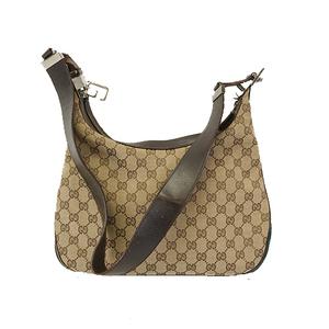 Auth Gucci Sherry Line Shoulderbag 001 3315 Women's GG Canvas Shoulder Bag Beige