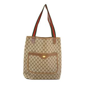 Auth Gucci Sherry Line Tote bag 39 02 003 Women's GG Supreme Tote Bag Beige