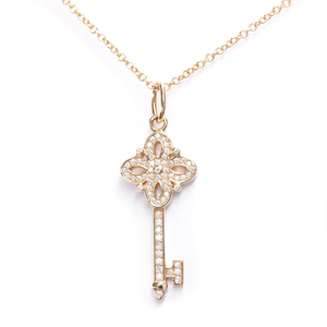 ティファニー(Tiffany) ティファニー ビクトリア K18ピンクゴールド(K18PG) ダイヤモンド メンズ,レディース ペンダントネックレス カラット/0.09