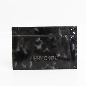 ジミーチュウ(Jimmy Choo) パテントレザー カードケース ブラック,グレー