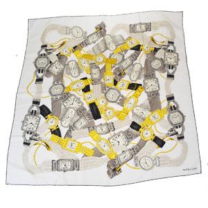 カルティエ(Cartier) ユニセックス シルク スカーフ ホワイト