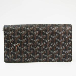ゴヤール(Goyard) リシュリュー ヘリンボーン APM205 ユニセックス コーティングキャンバス,レザー 長財布(二つ折り) ブラック,ブラウン,ホワイト
