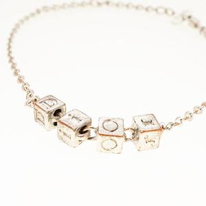 クリスチャンディオール ブレスレット Diorロゴ キューブ シルバーカラー メッキ