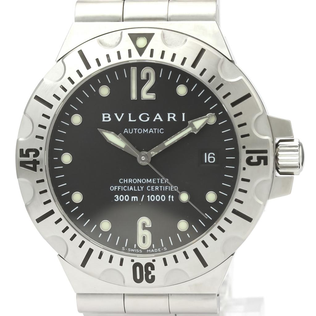 【BVLGARI】ブルガリ ディアゴノ スクーバ ステンレススチール 自動巻き メンズ 時計 SD40S
