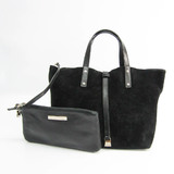 Tiffany Reversible Women's Leather,Suede Handbag Black
