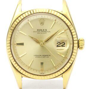 ロレックス(Rolex) デイトジャスト 自動巻き 14金イエローゴールド メンズ ドレスウォッチ 1601