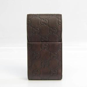 グッチ(Gucci) グッチッシマ タバコケース レザー ダークブラウン シガレットケース 181716