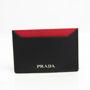 プラダ(Prada) SAFFIANO BICOLO 1MC208 Saffiano カードケース ブラック,レッド