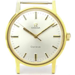 Omega Geneve Mechanical Gold Plated Men's Dress Watch 135.070