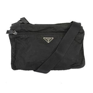 プラダ ショルダーバッグ テスート ナイロン ブラック シルバー金具