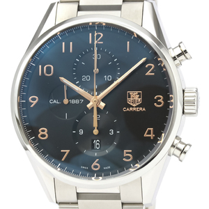 Polished TAG HEUER Carrera Calibre 1887 Chronograph Steel Automatic Mens Watch CAR2014