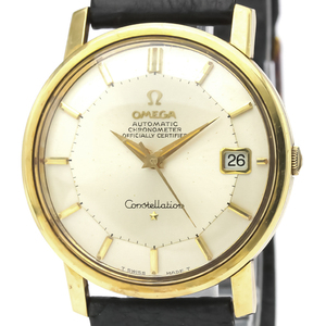 Omega Constellation Automatic Gold Plated Men's Dress Watch 168.010