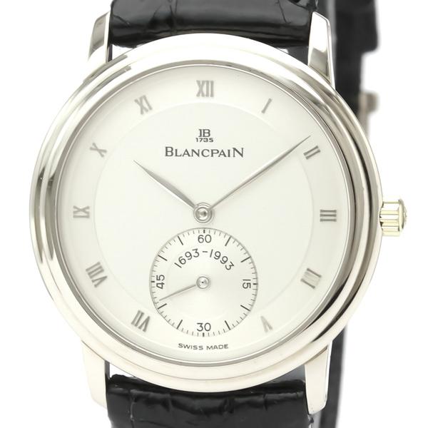 ブランパン(Blancpain) 手巻き K18ホワイトゴールド(K18WG) メンズ ドレスウォッチ 7001-1518-55