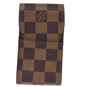 ルイ・ヴィトン(Louis Vuitton) ダミエ タバコケース レザー,PVC エベヌ エテュイ シガレット N63024