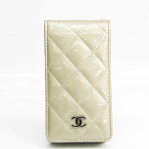 シャネル(Chanel) マトラッセ レザー 手帳型/カード入れ付きケース iPhone 5 対応 シャンパンゴールド