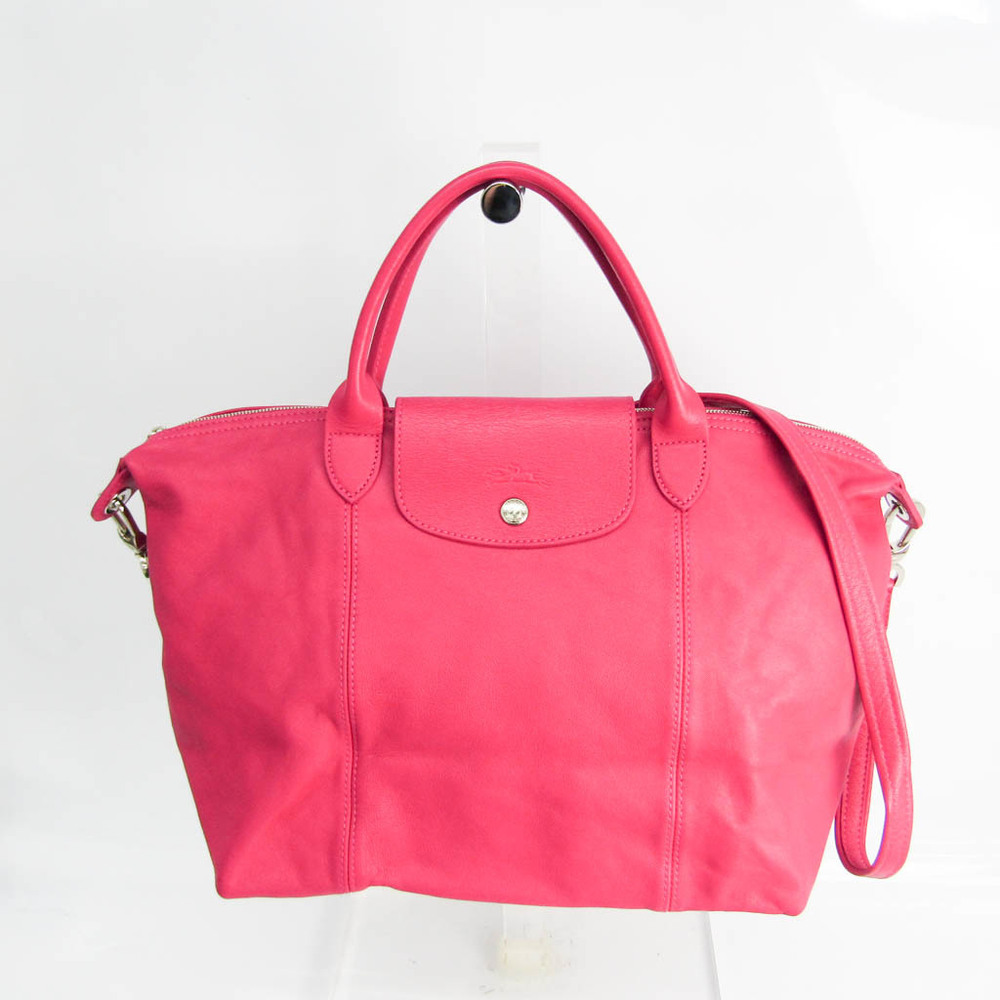 ロンシャン(Longchamp) ル・プリアージュ キュイール 1515 737 653 レディース レザー ハンドバッグ,ショルダーバッグ ピンク
