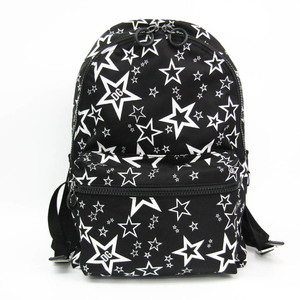 ドルチェ&ガッバーナ(Dolce & Gabbana) Star Printed Textile Backpack ユニセックス ナイロン,レザー リュックサック ブラック,ホワイト