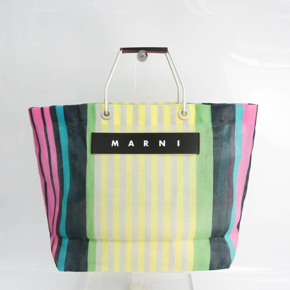 マルニ(Marni) FLOWER CAFE レディース ナイロン,アルミニウム ハンドバッグ ブラック,マルチカラー