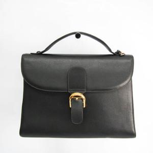 デルボー(Delvaux) ブリヨンGM メンズ レザー ブリーフケース ブラック