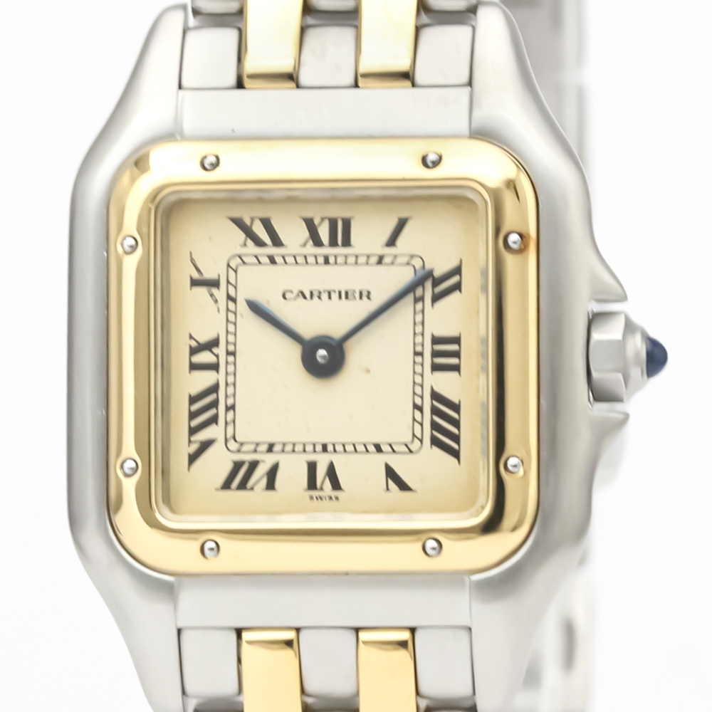 CARTIER Panthere 18K Gold Stainless Steel Quartz Ladies Watch