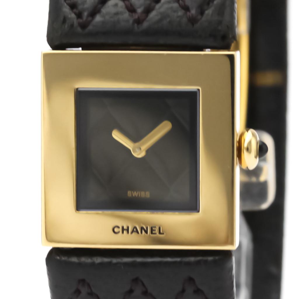 シャネル(Chanel) マトラッセ クォーツ K18イエローゴールド(K18YG) レディース ドレスウォッチ H0111