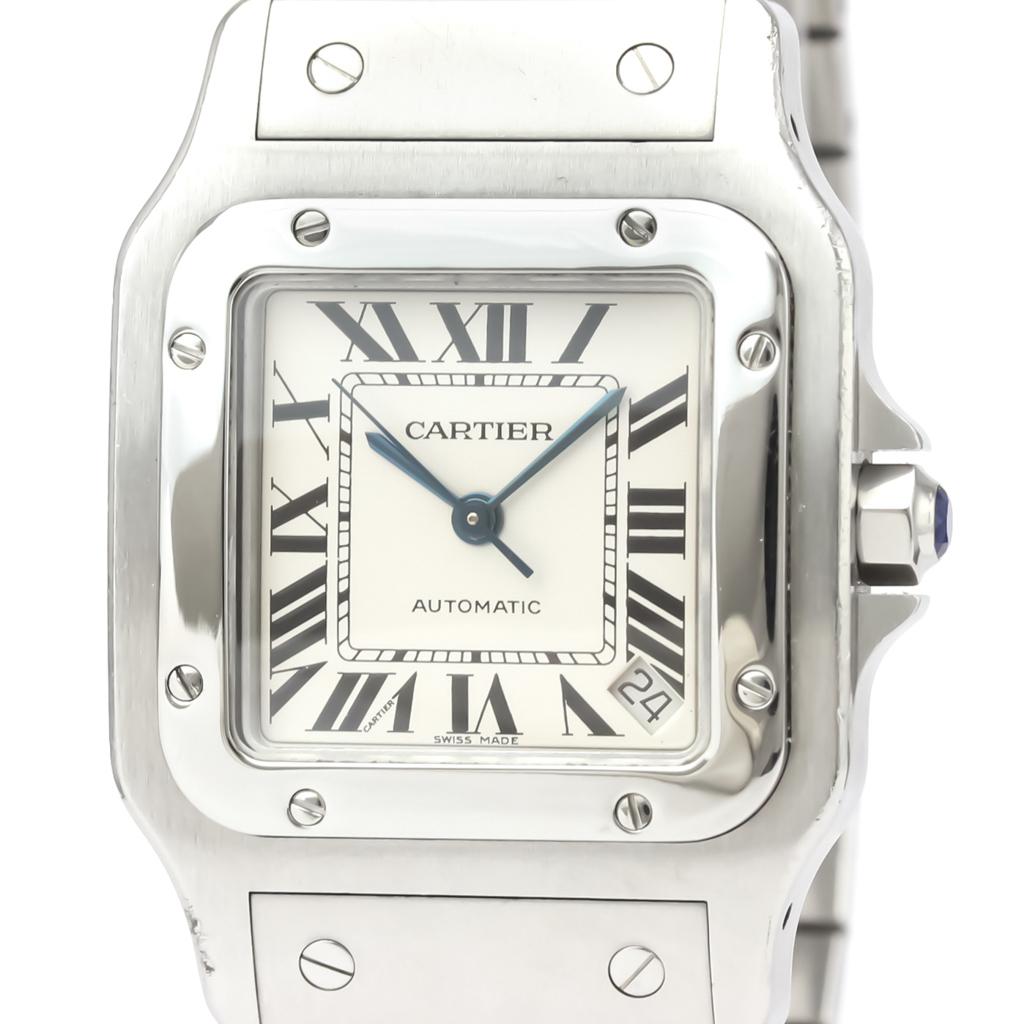 カルティエ(Cartier) サントス ガルベ 自動巻き ステンレススチール(SS) メンズ ドレスウォッチ W20098D6