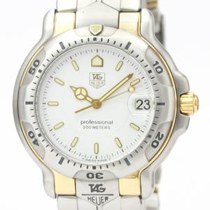 【TAG HEUER】タグホイヤー 6000 プロフェッショナル 200M K18 ゴールド ステンレススチール クォーツ メンズ 時計 WH1151